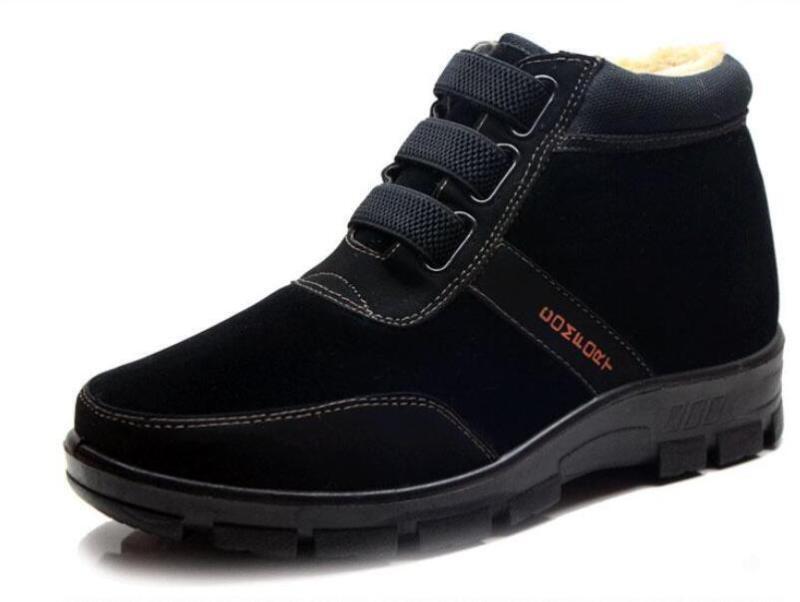 Inverno, uomini spesso foderato di pelliccia bianca al scarpe caldo antiscivolo gli stivaletti di scarpe al alte d24e9c