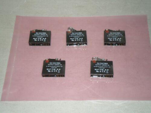 Lot of 5 OPTO 22 G4 OAC5MA Output Units 120VAC 3A 5 Volt Logic G4 0AC5MA