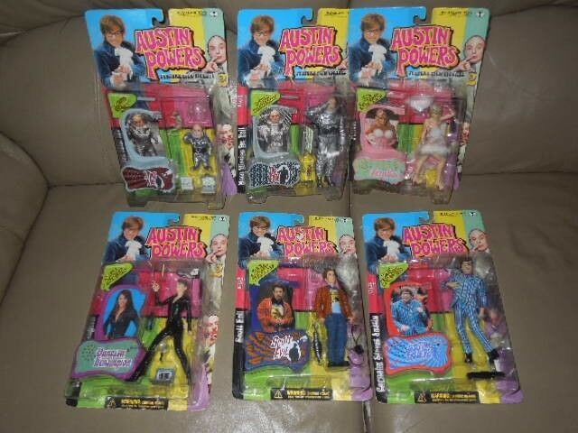 Austin Powers Series 2 Figures - Set of 7