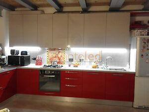 KIT Barra LED rigida in Alluminio Sotto Pensile Cucina misura ...