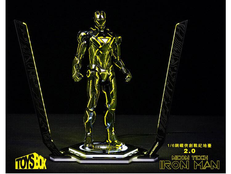 Toys BOX 1 6 Iron Man  Tron Plate-Forme Présentoir Support Avec Lumière DEL  expédition rapide