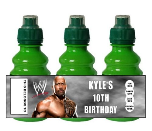 PERSONALISED WWE Wrestling  FRUIT SHOOT BOTTLE LABEL Party Bag Fillers