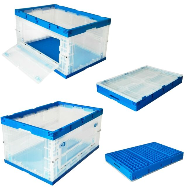 20X Clear Ladies Stackable Foldable Plastic Shoe Storage Boxes Organiser New