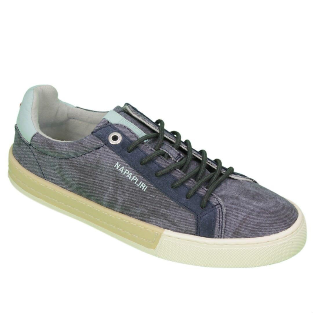 NAPAPIJRI shoes baskets homme jean blue plus bas dentelle N65 blue marine