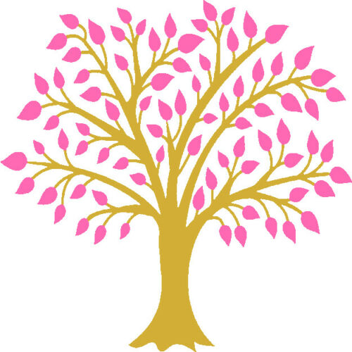 30 Custom Fancy Pink Tree Personalized Address Labels