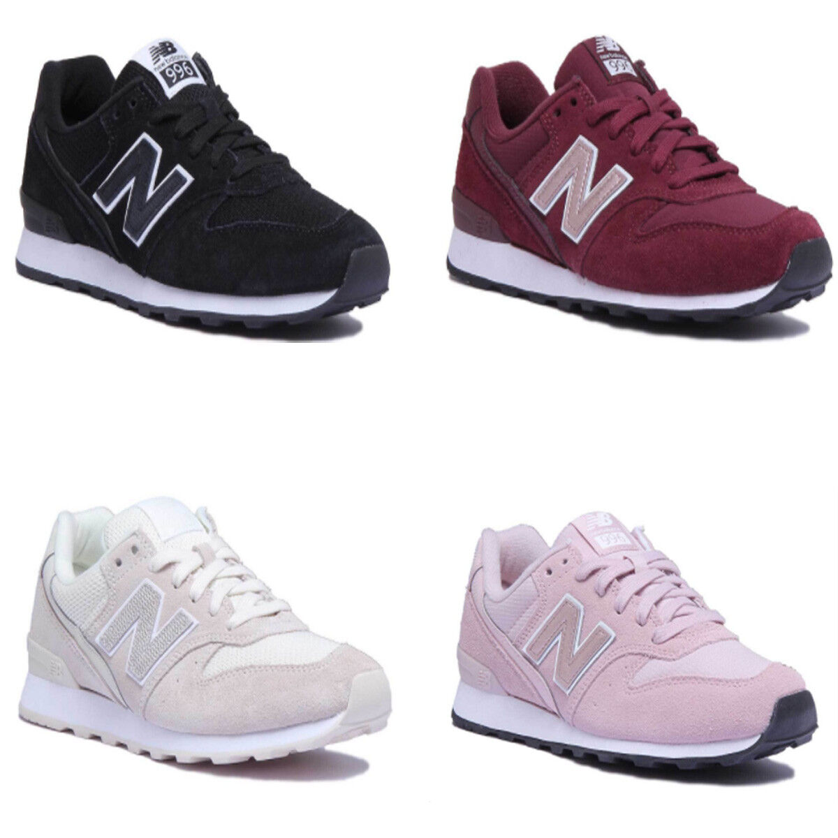 New Balance WR996LCB Women Suede Cream Trainers Size UK 3 - 8
