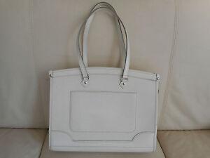 Image Is Loading Authentic Louis Vuitton Epi White Madeleine Gm Handbag