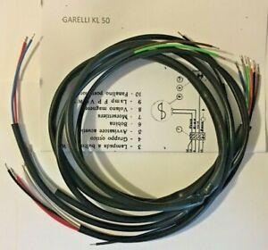 IMPIANTO-ELETTRICO-ELECTRICAL-WIRING-MOTO-GARELLI-50-KL-CON-SCHEMA-ELETTRICO