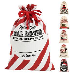 Grand Santa présent Sack Stocking Christmas Noël Décoration HO HO
