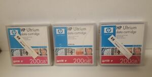 3-x-HP-LTO-1-Ultrium-1-Data-Tapes-cartouches-200-Go-C7971A-Stockage-Works
