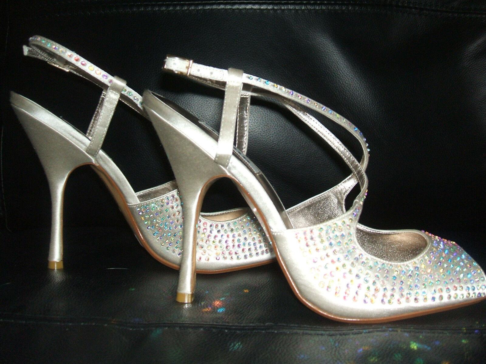 Rrp Rrp Rrp  BNWB dune taille 7 40 s.r. ivoire crème strass mariée chaussures sandales 42e283