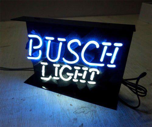 """11/""""x10/""""BUSCH LIGHT Neon Sign Light Beer Bar Pub Wall Display Handcraft Artwork"""