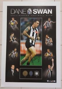 AUTHENTIC-DANE-SWAN-HAND-SIGNED-OFFICIAL-COLLINGWOOD-PRINT-POSTER