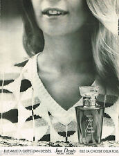 PUBLICITE ADVERTISING 055  1973  JEAN DESSES  parfum femme