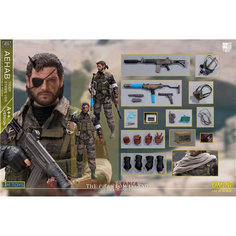 Pré-commande 1 12 LIMTOYS limini Bon état + Metal Gear Solid Snake Tiger Stripe 6 in (environ 15.24 cm) Figure