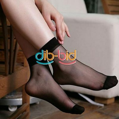 10 Pairs Unisex Simple Crystal Stockings Ultrathin Elastic Short Sock Style
