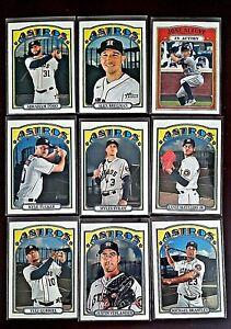 Lot of 9 2021 Topps Heritage Houston ASTROS Baseball cards, Alex Bregman, Altuve