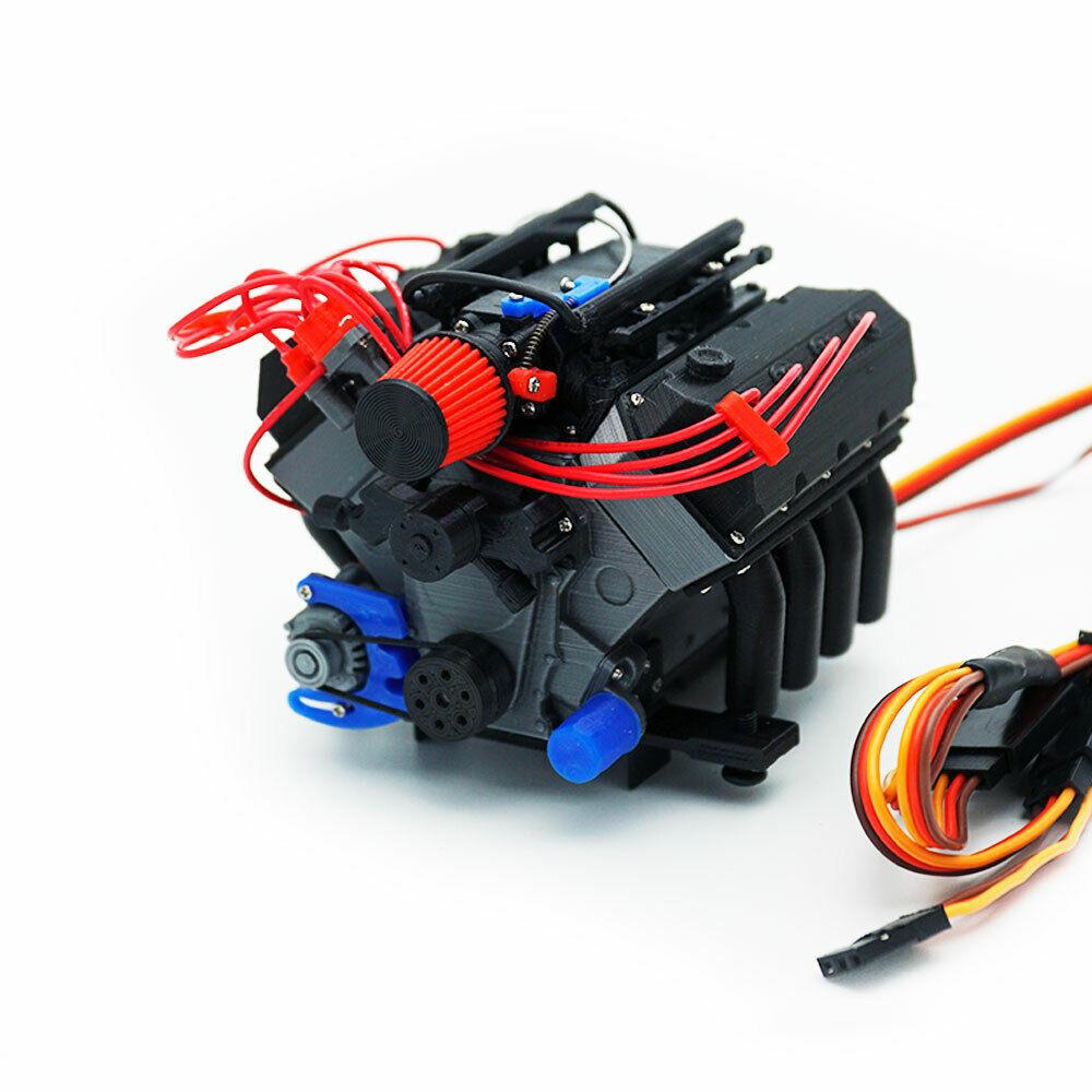 DarkDragonWing 1 10 RC OHV V8 H  FI FD Engine Assembled  in linea