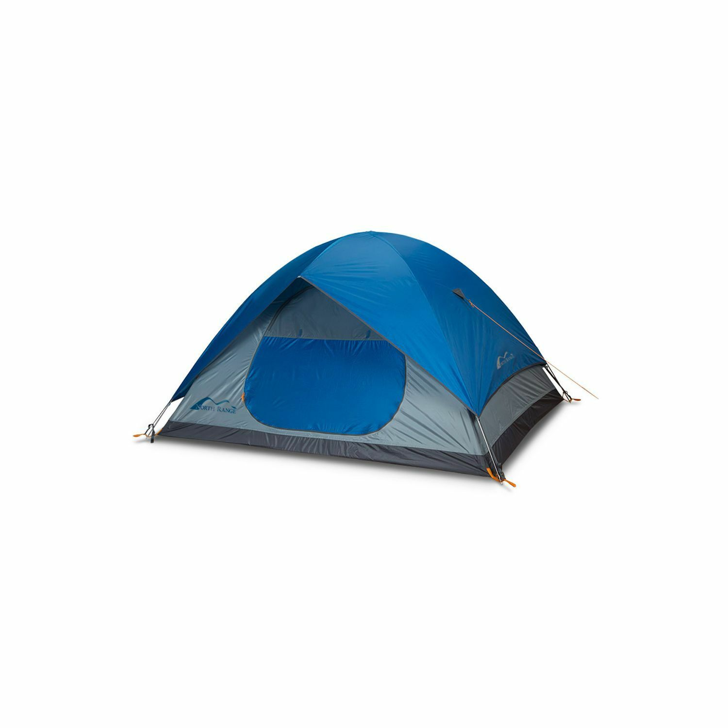 Cross Country 4-Person Water-Resistant Camping Tent, bluee
