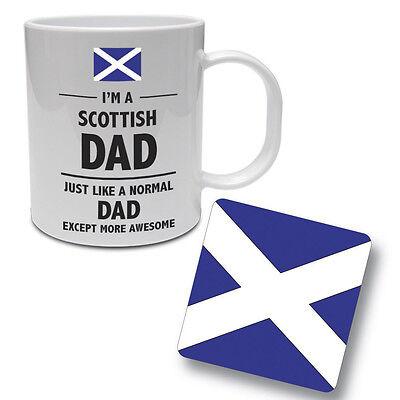 Daddy Gift Idea Ceramic Mug /& Coaster Set SCOTTISH DAD Scotland Father