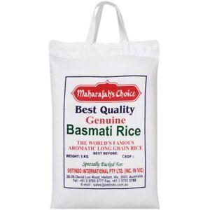 Maharajah's Choice Highest Quality Light Fluffy Calico Basmati Rice 5kg