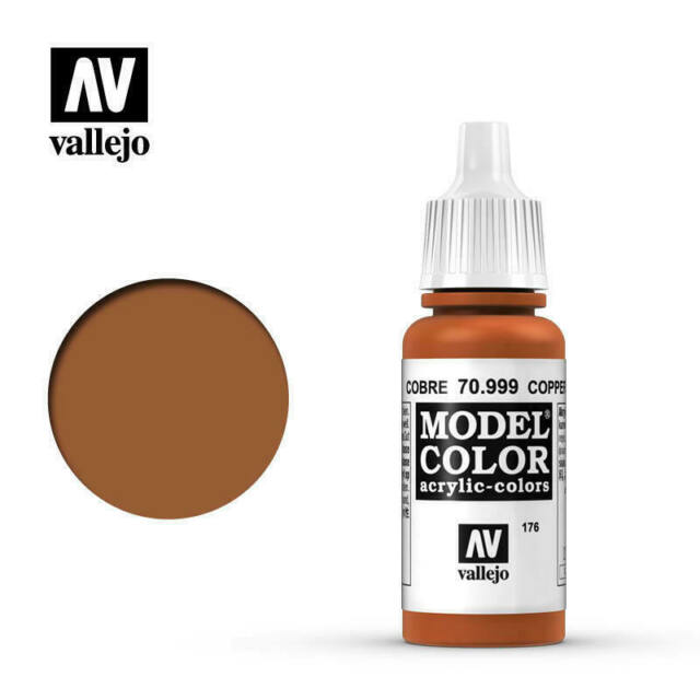 VALLEJO 70999 MODEL COLOUR METALLIC COPPER WATER BASED ACRYLIC HOBBY PAINT 17 ML