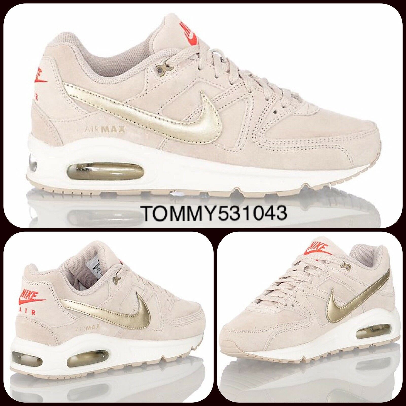 Nike Air Command Max Command Air Premium | UK 8.5 EU 43 US 11 | 718896-228 String/MatlicGold 9344e2