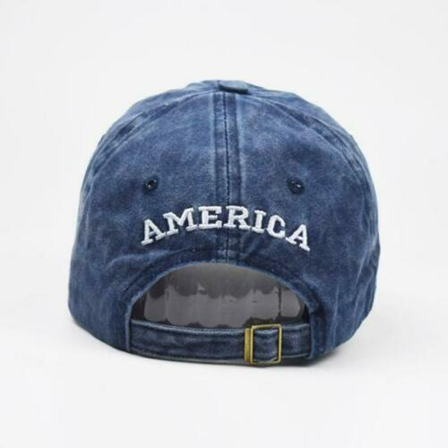 Baseball-Cap-Cotton-Usa-Flag Hat Adjustable Polo Style Washed Plain Solid Visor