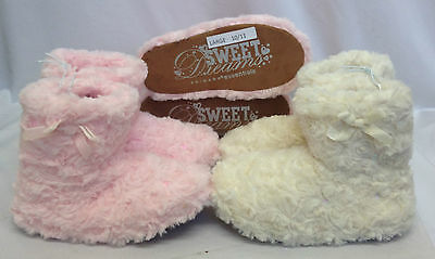 Girls Primark Ankle Boots Shoes Slip On Slippers Furry Eskimo Fur Booties Size