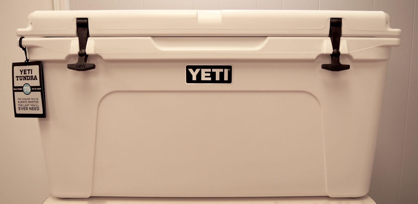 BRAND NEW  YETI Tundra 75 Quart Cooler White Free Shipping  YT75W  clearance