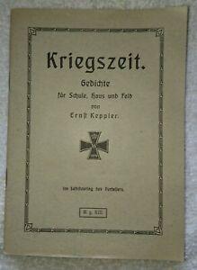 Rar-Kriegszeit-Gedichte-von-Ernst-Keppler-1918-Schoenaich-bei-Boeblingen-1-WK-WWI