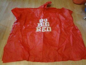 "Men's or Women's Nebraska Cornhuskers Hooded Rain Poncho ""Go Big Red"""
