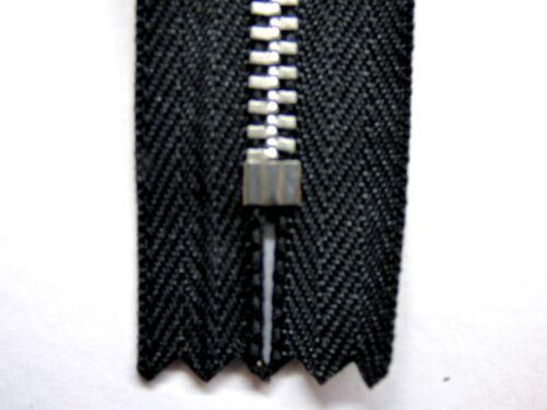 Metall YKK 3,4,5, Schwarz Leichte Abgekettete Maschen Reißverschluss