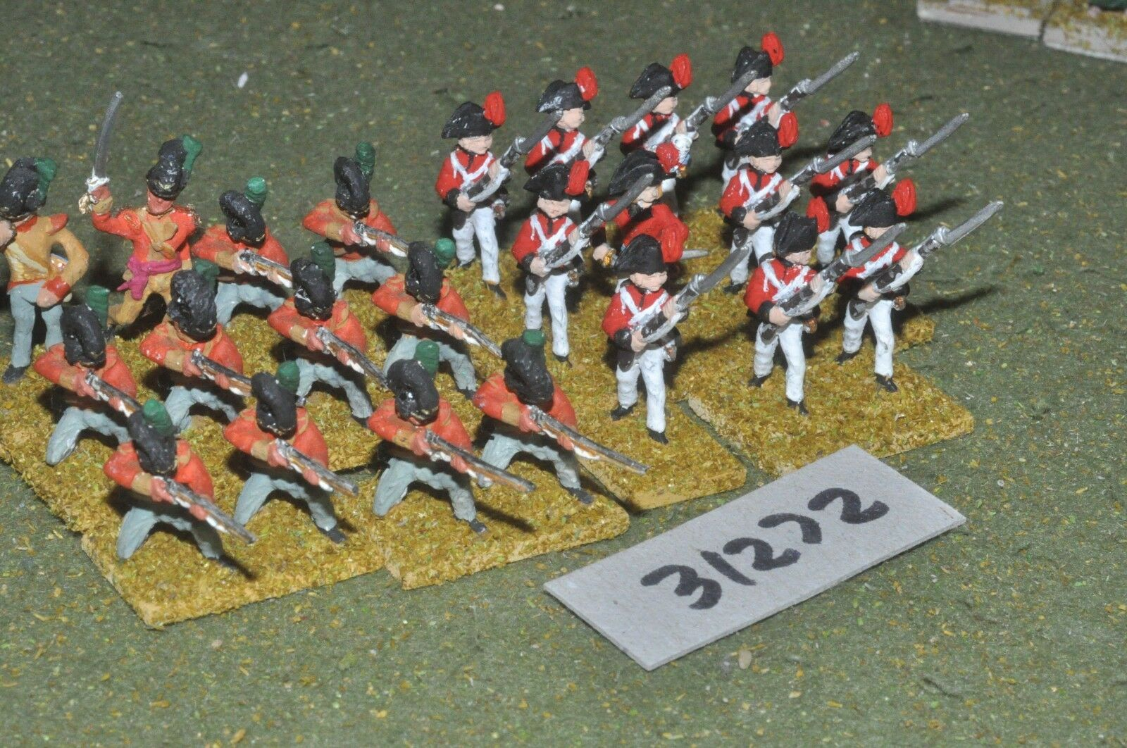 25mm napoleonic   british - early auxiliaries 23 figures - inf (31272)