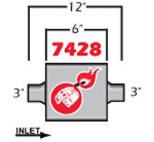 Cherry Bomb Extreme Muffler 7428cb 4 Inch X 9 34 Inch Oval Centercenter New