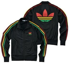 Details about NEW Adidas Originals Women Firebird Rasta Colorful Jamaica Bob Marley Jacket !!!