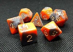 RPG-Wuerfel-Set-7-teilig-Poly-DND-Rollenspiel-orange-grau-dice4friends-w4-w20