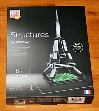 Block Tech Structures THE EIFFEL TOWER 140 Piece Architecture NEW Lego Compatibl