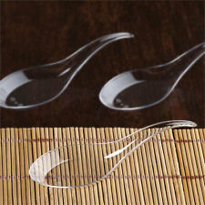 Asian Spoon Appetizers Clear Chinese Disposable Plastic Gourmet Tasting 50 pcs