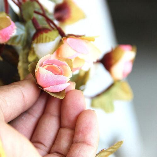7FT SHABBY CHIC PINK ROSE GARLAND WREATH FLOWER VINTAGE WEDDING HOME SHOP DECOR
