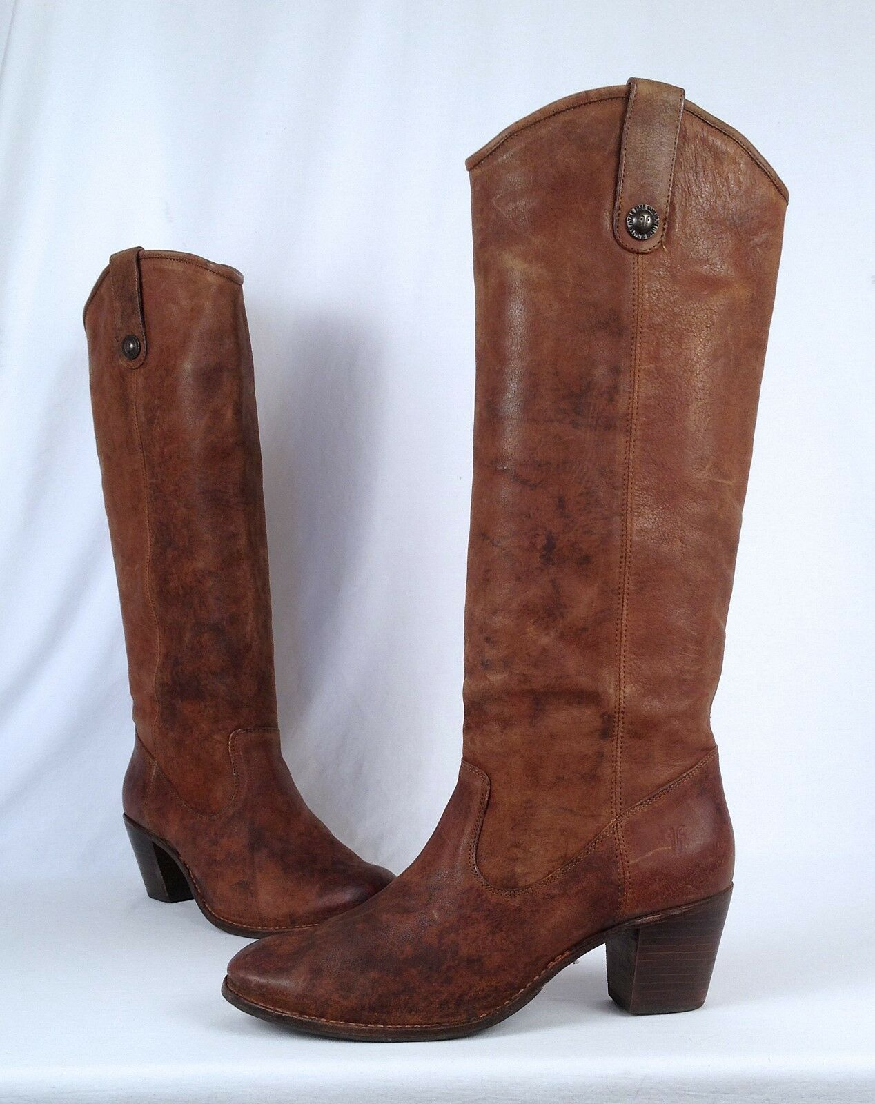 Frye 'Jackie' Button Boot- Brown Nubuck- Size 11 B   (B14)
