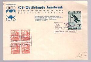 Austria-Osterreich-1936-Ski-World-Cup-cover-with-special-cancel-BO86