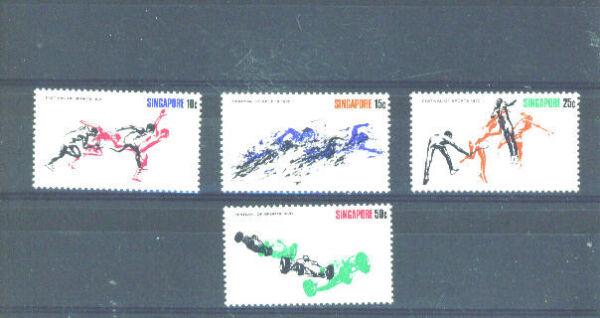 CréAtif Singapour - 1970 Sports Charnière Comme Neuf Soulager La Chaleur Et La Soif.