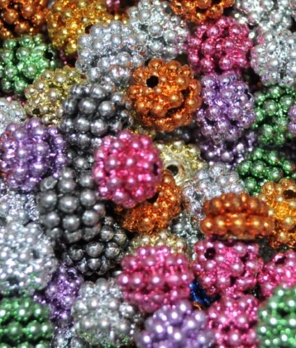 round option for colour approx 10 mm metallic berry acrylic beads