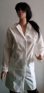 Arzt Kitte Damen Mantel Berufsmantel Laborkittel Schwesternkittel Weiß Gr.s-m QualitäTswaren Business & Industrie