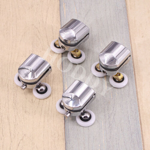 4x Shower Enclosure Door Top/&Bottom Rollers// Runners// 23mm wheels dia