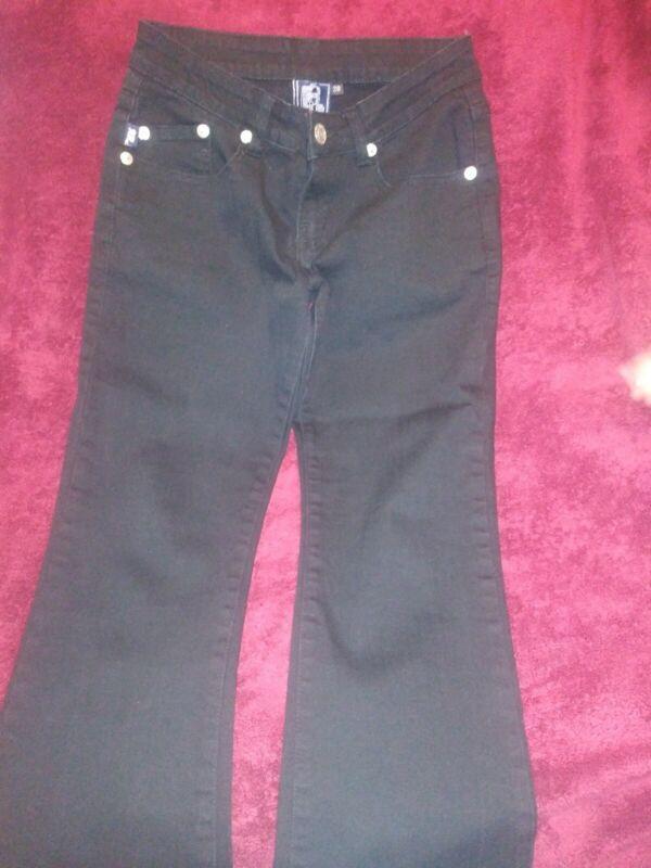 Donna Mesh Net Jeans in Denim Skinny Pantalone EFFETTO INVECCHIATO STRAPPATO ANTERIORE 8-14