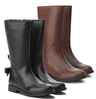 GEOX J8449A AGATA scarpe donna ragazza bambina stivali stivaletti pelle anfibi | eBay