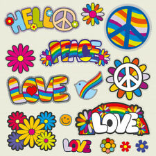"Hippie Skull Peace Love Woodstock Life Wall Sticker Room Interior Decor 22/""X22/"""