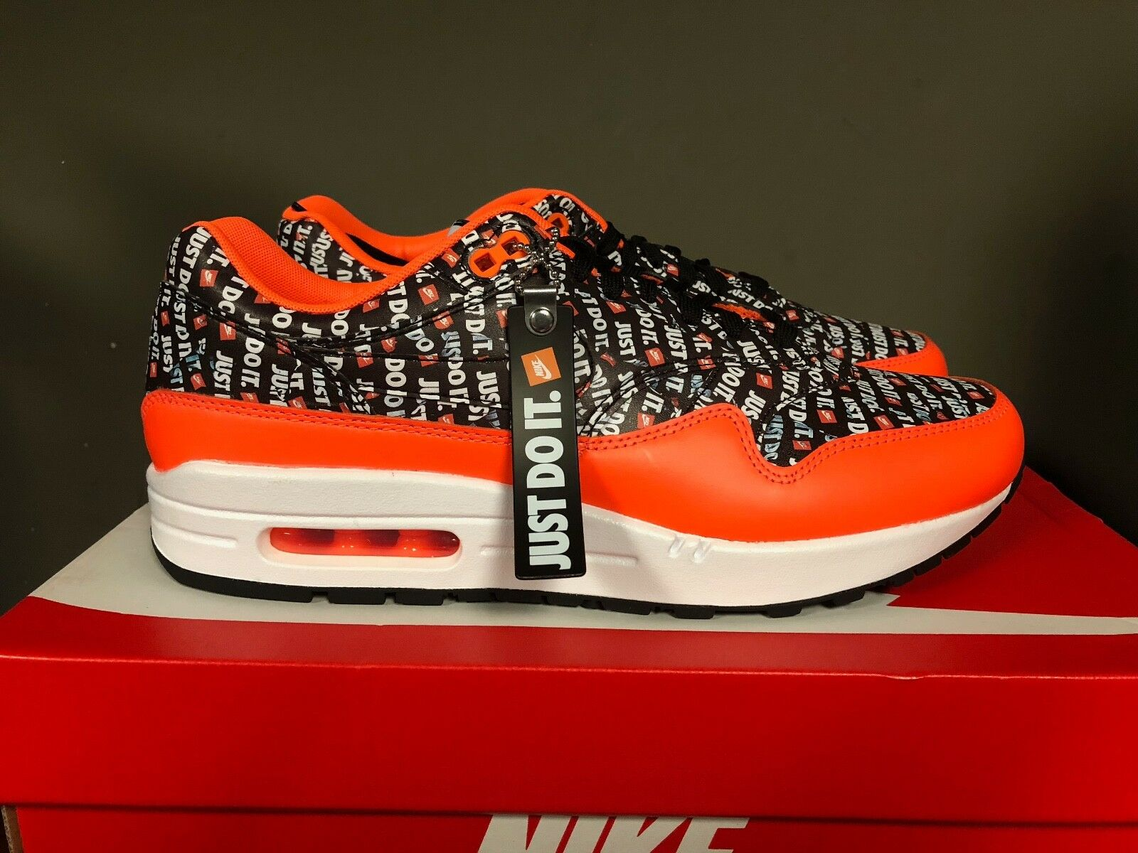 Uomini e mike air max nero-total 1 premio nero / nero-total max orange-white 875844-008 nuovo 2018 2189c9